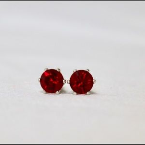 Silver plated Swarovski stud earrings